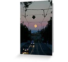 Moonrise over the Prague Greeting Card
