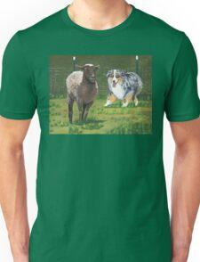 Fetch ~ Australian Shepherd ~ Oil Painting  Unisex T-Shirt