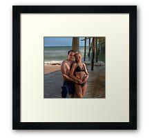 Under the Boardwalk... Framed Print