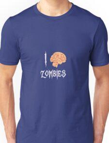 I Brain (<3) Zombies Unisex T-Shirt