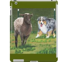 Fetch ~ Australian Shepherd ~ Oil Painting  iPad Case/Skin