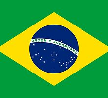 Flag of Brazil Horizontal by Inimma