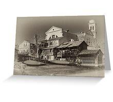Where Gondolas Born Greeting Card