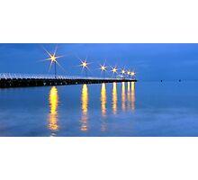 Lights at dusk Photographic Print