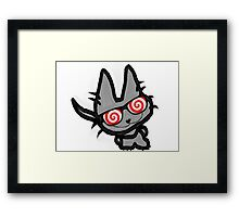 Kitty's Fun Hypno Glasses Framed Print