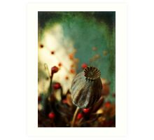 Dried plants in a pot... Art Print