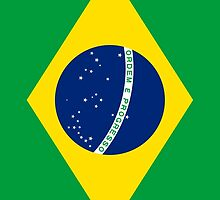 Flag of Brazil Vertical by Inimma