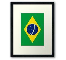 Flag of Brazil Vertical Framed Print