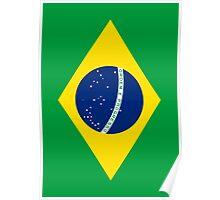 Flag of Brazil Vertical Poster