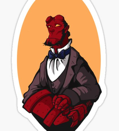 Hellboy Bust Sticker
