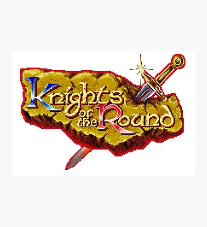 Knights of the Round - SNES Title Screen Photographic Print