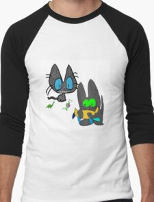 Cats with Toys Men's Baseball ¾ T-Shirt