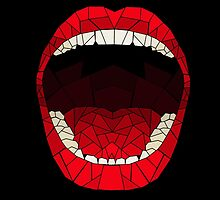 shattered glass mouth  by bluedesda