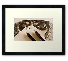 Coloured pencil Framed Print