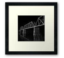 Murray Bridge BW  Framed Print