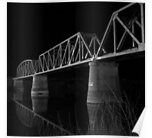 Murray Bridge BW  Poster