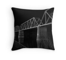 Murray Bridge BW  Throw Pillow