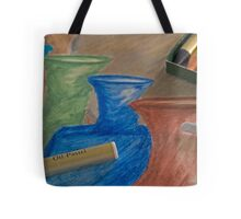 Oil Pastel Vases Tote Bag