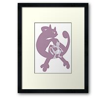 Pokemon At the Heart of Mewtwo Framed Print