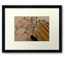 Pencil Sketching Framed Print