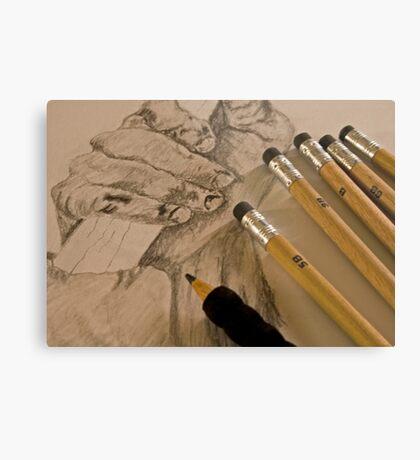 Pencil Sketching Metal Print