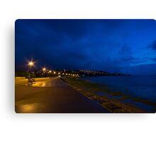 Portishead Promenade at Sunset Canvas Print