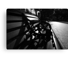 City Hall Bench Canvas Print