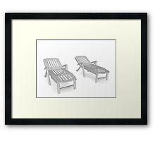 deckchairs Framed Print