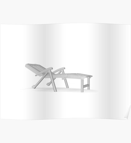 chair deck chair Poster