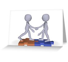 employment contract Greeting Card