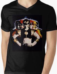 Mighty Morphin Power Rangers 2 Mens V-Neck T-Shirt