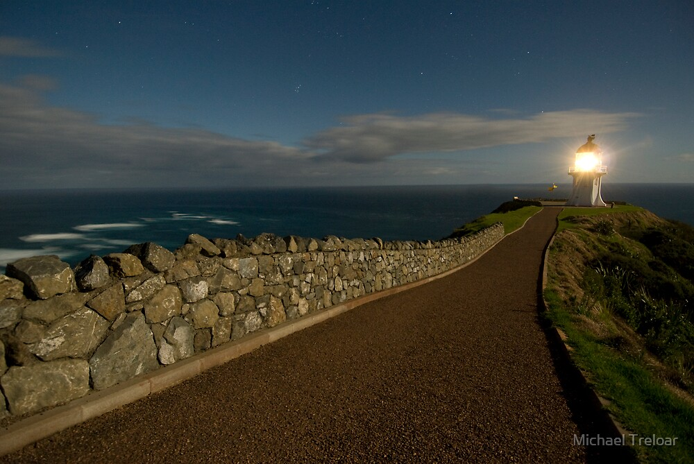 Cape Reinga, Lighthouse. by Michael Treloar