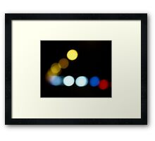 Light Circles Framed Print