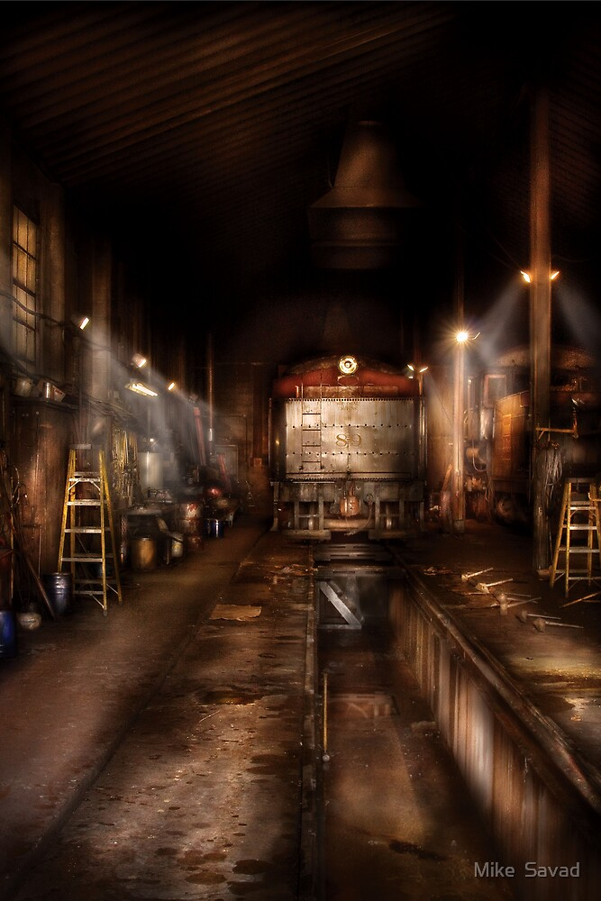 Train - Train 89 - In the workshop  by Mike  Savad