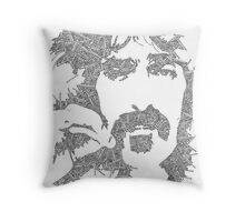 Garabato Frank Zappa Throw Pillow