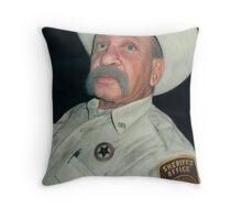 The Old Sheriff (The Long Arm of the Law) Throw Pillow