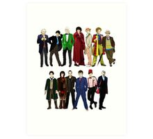 Doctor Who - The 13 Doctors Art Print