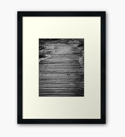 Boardwalk Framed Print