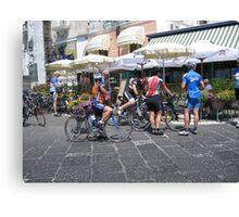 Cyclists in the giro de Italia Canvas Print