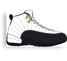 "Air Jordan XII (12) ""Taxi"" Canvas Print"