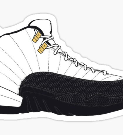 "Air Jordan XII (12) ""Taxi"" Sticker"