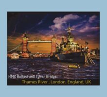 HMS Belfast and Tower Bridge  Kids Clothes