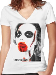 Look Women's Fitted V-Neck T-Shirt