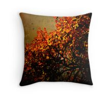Tree of red leafs Throw Pillow