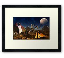Mystery on Phobos Framed Print