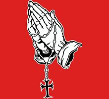 Praying Hands with Rosenkranz Unisex T-Shirt