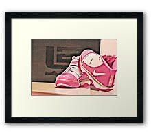 Pink Nike Zoom Lebron Soldiers Framed Print
