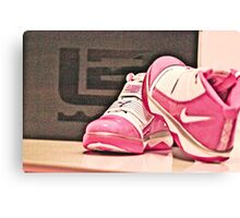 Pink Nike Zoom Lebron Soldiers Canvas Print