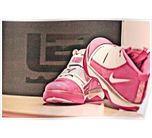 Pink Nike Zoom Lebron Soldiers Poster