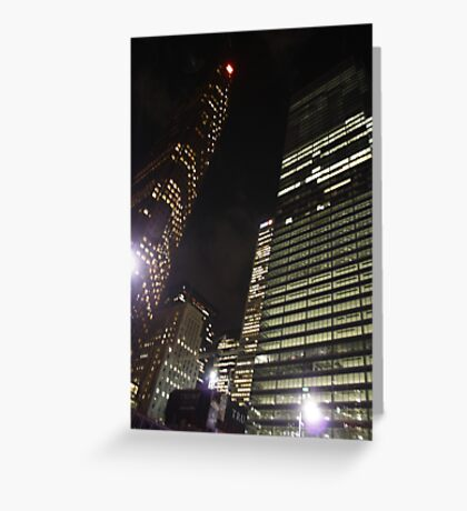 Tower Lights Greeting Card